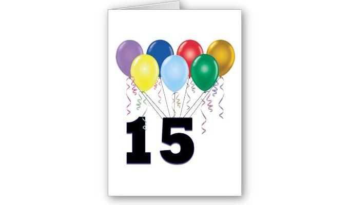 Поздравления с днём рождения на 15 лет парню 12