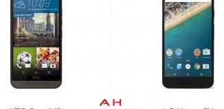 HTC One M9 и LG Nexus 5X