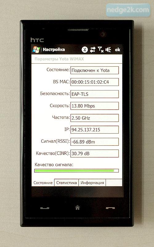 Коммуникатор HTC T8290 с поддержкой WiMax