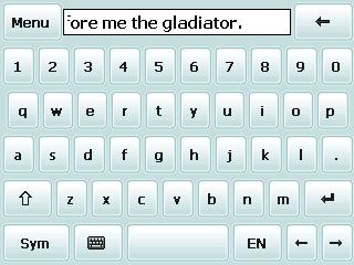 Полный экран Spb Keyboard 4.0