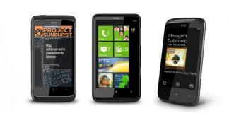 Новинки от HTC с ОС Windows Phone 7