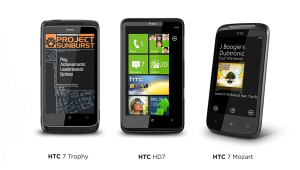 Новинки от HTC с ОС Windows Phone 7