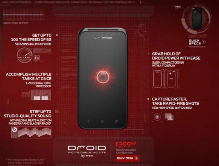 DROID Incredible 4G выйдет 10-го мая