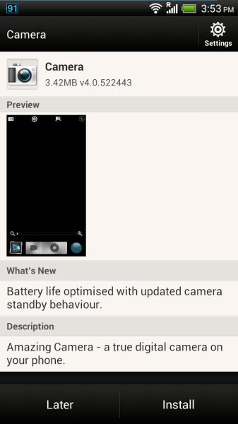 HTC One X получит небольшое обновление