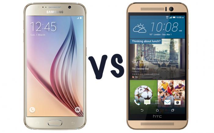 Сравнение HTC One M9 с Samsung Galaxy S6 и iPhone 6