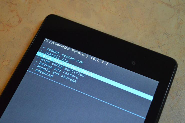 Общий сброс телефона HTC на ОС Android