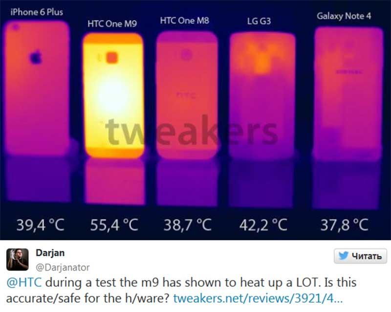 Нагрев HTC One M9
