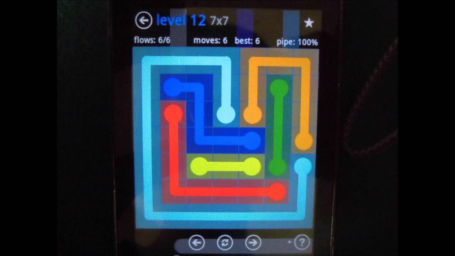 Скриншот игры Flow Free на Андроид