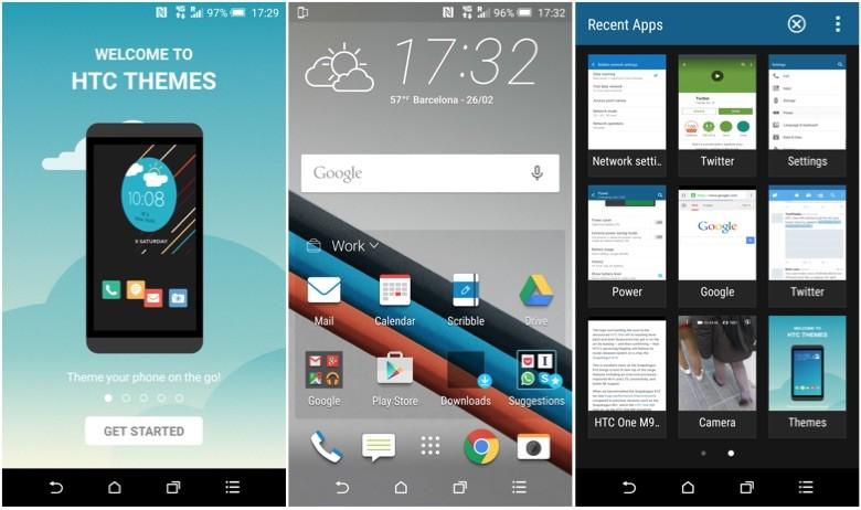 Интерфейс HTC One M9