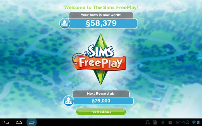 Скриншот игры The Sims FreePlay на Андроид