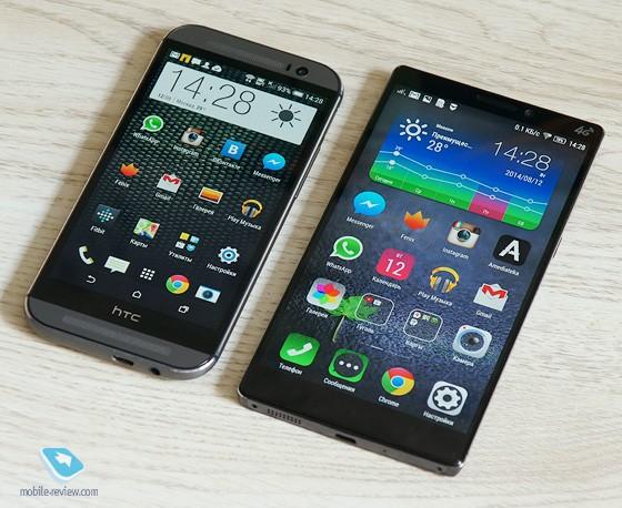 HTC One M8 vs Lenovo Vibe Z2 pro