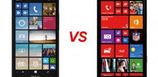 HTC One M8 и Nokia Lumia
