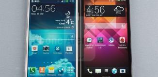 HTC One M7 и Samsung Galaxy S4