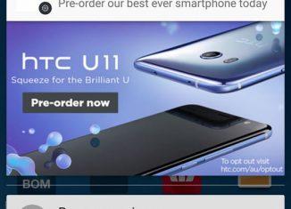 Рекламное уведомление об HTC U11 // reddit.com