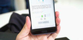 Edge Sense в HTC U11 // androidpolice.com