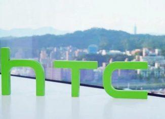 Логотип HTC на фоне городской панорамы // htc.com