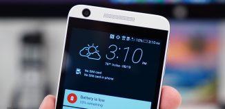 Низкий заряд батареи на смартфоне HTC Desire 626 // technobuffalo.com